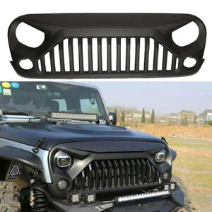 For 2007 2018 Jeep Wrangler Jk Front Bumper Grille Grill Angry Bird