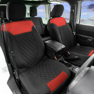 Front Bucket Seat Covers Pair Neosupreme For Auto Car Suv Red Black