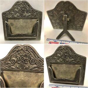 Vintage Collectable Decorative Heavy Metal Bussiness Card Stand