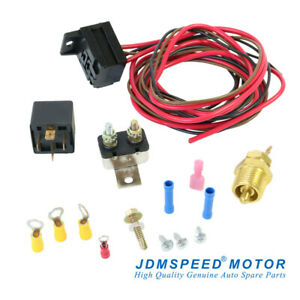 Electric Radiator Engine Fan Thermostat Temperature Switch Relay Kit 3 8 427 454