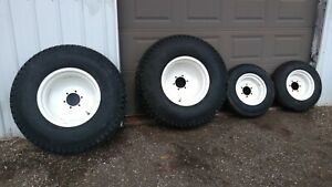 Set Of 4 Titan Compact Tractor 6 Hole Wheels And Turf Tires Usa Made