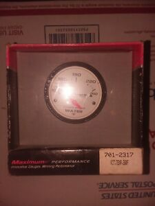Stewart Warner Maximum Performance Series 100 260f 2 White Water Temp Gauge