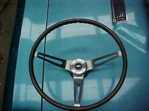 Nice Used 67 68 Chevelle Camaro Corvette Wood Steering Wheel Hub Horn Cap L