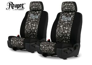 Neoprene Reaper Skull Camo Seat Covers For A Pair Of Low Back Bucket Seats