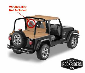 1997 2006 Jeep Wrangler Tj Bikini Top With Channel Tonneau Summer Kit Spice
