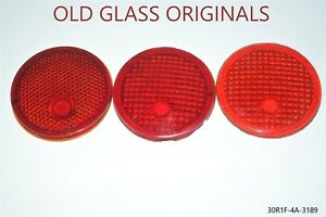 Red Glass Lens Tail Stop Light Cover Old Antique Vintage Nors Or Nos Or Used