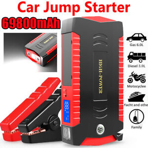 20000mah Portable Mini Slim Car Jump Starter Engine Battery Charger Power Bank