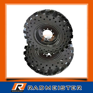 1300x24 Solid Telehandler Tires 4x With Rims 13 00x24