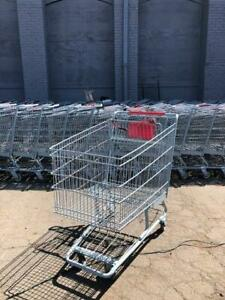 Shopping Carts Deep Metal Basket Lot 8 Large Grocery Liquor Store Supermarket