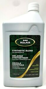1 Quart Of Rolair Synthetic Air Compressor Lubricant Oil All Weather Oil