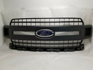 New Take Off Original Grille Fits 2018 2019 2020 Ford F150 Unpainted Black