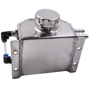 Universal 1l Aluminum Coolant Radiator Overflow Recovery Water Tank Bottle Top
