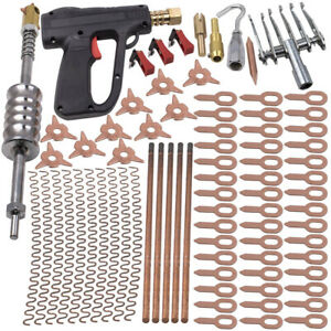 86pcs Dent Puller Welder Kit Car Body Spot Repair Device Stud Welding Hammer Gun