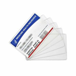 Waterproof Medicare Credit Business Card Holder Protector Sleeves Clear Pvc Soft