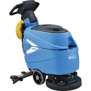 Corded Electric Walk Behind Automatic Floor Scrubber 17 Cleaning Path New