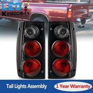 Halogen Tail Lights For 1989 1995 Toyota Pickup Black Smoke Rear Lamps Pair L r