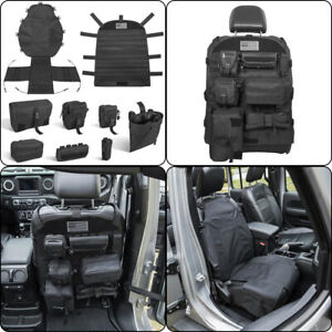 Us Seat Back Cover Organizer Tactical Molle Pouch Bag First Aid Tool Kit Storage