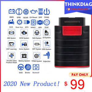 Thinkdiag Car Obd2 Scanner Bluetooth Srs Abs Bidirectional Ecu Coding Scan Tool