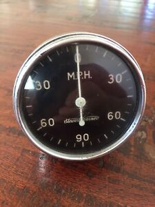 Vintage Stewart Warner 90 Mph Speedometer Tach Forward And Reverse Mechanical