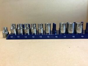 New Made In Usa Craftsman 6 Point Shallow Socket Set 1 2 Drive 10 Pc Metric