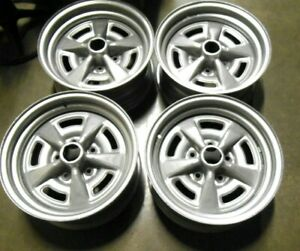 15 X 7 Pontiac Trans Am Gto Gp Rally 2 Wheels Blasted And Powdercoated Silver Hw
