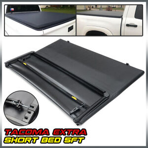 5ft Short Truck Bed Soft 3 fold Tonneau Cover For 2005 2015 Toyota Tacoma Extra