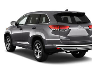 Kasei Fits 08 20 Highlander Stainless Steel Double Layer Rear Bumper Guard