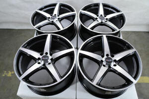 16 Wheels Integra Aveo Cobalt Spark Accord Civic Insight Black Rims 4x100 4x108