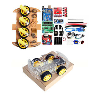 4wd Diy Smart Chassis Car Kit For With Arduino R3 ultrasonic