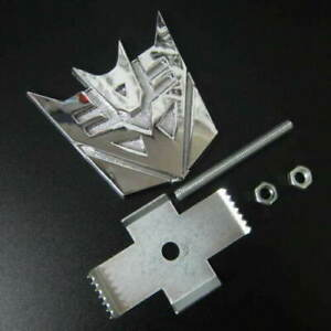 New Metal Transformers Decepticon Grill Badge Chrome Fit All Car Front Emblem