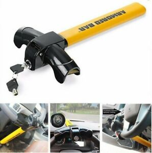 Universal Heavy Duty Steering Wheel Lock Anti Theft Rotary Security Safe Van Car
