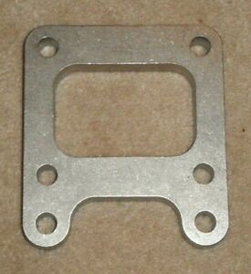 T4 Stainless Steel Non Divided Turbo Inlet Flange With Mounting Tabs And Bracket