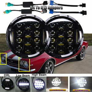 7 inch Round Led Headlights Bulbs Lamp High low Beam Drl For Porsche 944 912 914