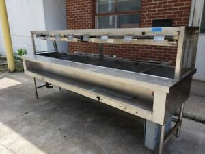 Emerald 8 pan Open Well Electric Steam Table