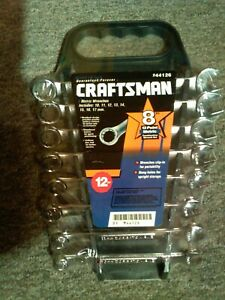 Craftsman Wrench Set Metric 8 Piece 12 Point 10mm 17mm Usa Made new