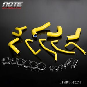 Silicone Radiator Hoes Pipe Kit Free Clamps Yellow For 94 97 Mazda Miata Mx5 1 8