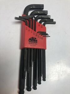 Mac Tools Sae Ball Hex Wrench Set Part Shks13ce Usa Complete