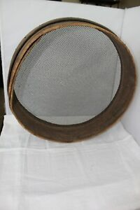 Vintage Antique Primitive Wood Sieve Sifter Wall Decor Farmhouse Cabin Panning