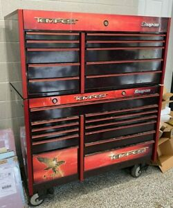 Snap on Tempest Black Cherry Tool Box 22 Drawers Snapon Roll Cabinet Top Bottom
