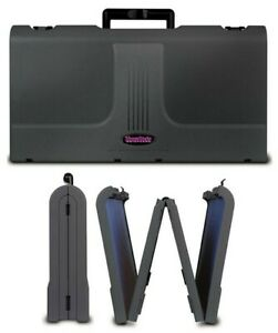 Showstyle Briefcase Tabletop Portable Display Black Velcro Fabric Panels Exhibit