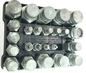 Blue point 25 Pc Bolt Stud Screw Extractor Remover Set No Rex 25 Usa Seller