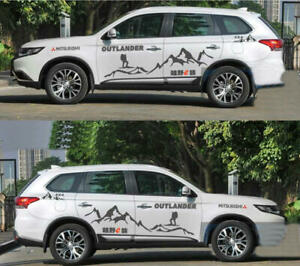 Graphics Mountain Car Sticker Fit For Mitsubishi Outlander Cross Country Decals
