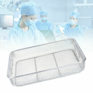 New Sterilization Tray Case Box Surgical Instrument Stainless Steel 40 30 7cm