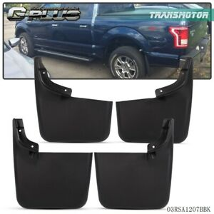 Mud Flaps Molded Splash Guards For 2004 2015 Ford F 150 W O Fender Flares 4pcs