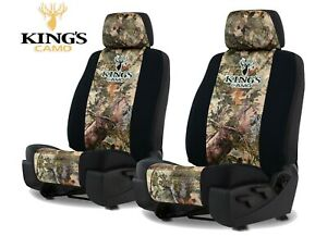 Kings Camo Front Universal Fit Seat Covers For A Pair Of Low Back Bucket Seats