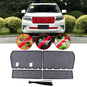 Steel Front Mesh Grille Grid Inserts Insect Net For Toyota Prado Fj150 2018 2020