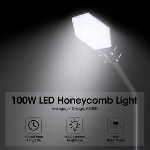 8000LM LED Street Light 100W Outdoor Commercial IP67 Garden Yard Road Lamp A+ $31.75
