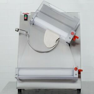 Two Stage Pizza Dough Roller Sheeter Double Roller Diameter 18 Rolling Machine