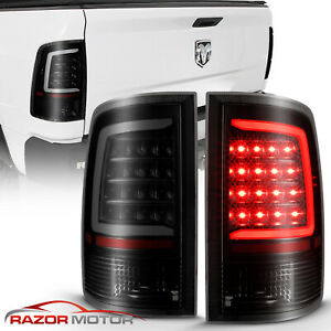 For Black 2009 2018 Dodge Ram 1500 10 18 2500 3500 Led Bar Taillights Brake Lamp