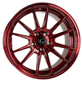 Cosmis R1 18x9 5 35 5x114 3 Hyper Red Set Of 4